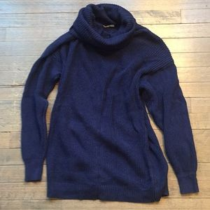 Navy blue cowlneck sweater